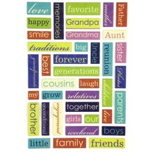 Momenta Family Puffy Word Stickers