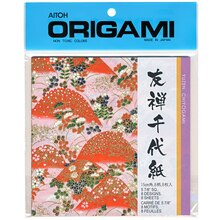 Red Hills Yuzen Chiyogami Washi Origami Paper 5 7/8""