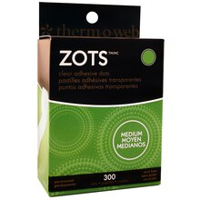 Therm O Web Zots Clear Adhesive Dots, Medium