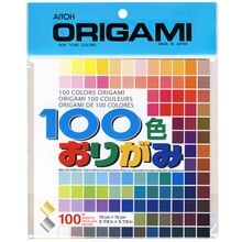 100 Colors Origami Paper Assortment, 5 7/8""