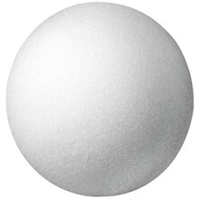 Floracraft Styrofoam Ball, White 5 inch