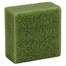 "Styrofoam Block, Green, 4"" x 4"" x 2"""