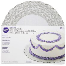 "Wilton Show-N-Serve 10"" Cake Circles, 10 Count Packaged"