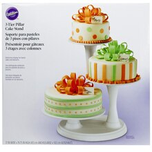 Wilton 3-Tier Pillar Cake Stand Packaged