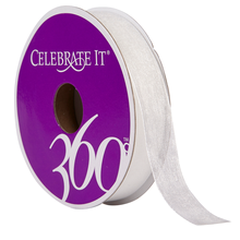 Celebrate It 360 Sheer Ribbon, 5/8in, White