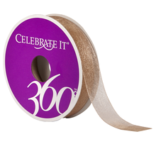 Celebrate It 360 Sheer Ribbon, 5/8in, Sand