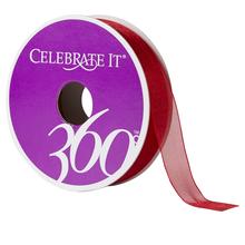 Celebrate It 360 Sheer Ribbon, 5/8in, Red