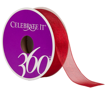 Celebrate It 360 Sheer Ribbon, 7/8in, Red