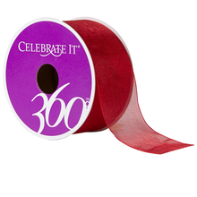 Celebrate It 360 Sheer Ribbon, 1 1/2in, Red