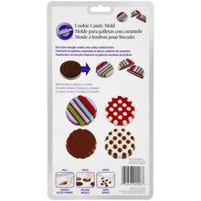 Wilton Cookie Candy Mold, Dots and Stripes