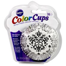Wilton Color Cups, Damask, package view