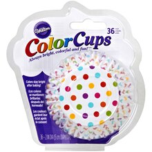 Wilton Color Cups, Rainbow Dots, package view