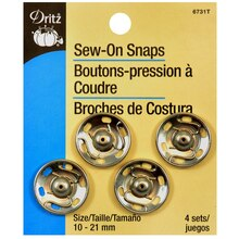 Dritz Sew-On Snaps, Silver
