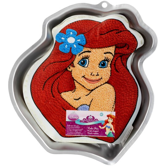 Wilton disney princess ariel cake pan for Michaels craft store cake decorating classes