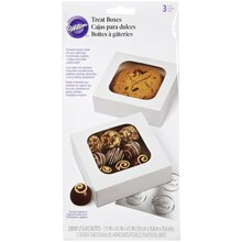 Wilton Treat Boxes with Stickers, Packaged