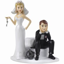 Wilton Cake Topper, Ball and Chain