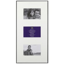 """Studio Décor Basics Metro 3-Opening Collage Frame With Mat, 4"""" x 6"""""""