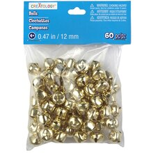 Creatology 12 mm Jingle Bells, Gold