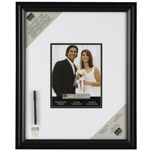 "Studio Décor Signature Frame With Marker, Black 8"" x 10"""
