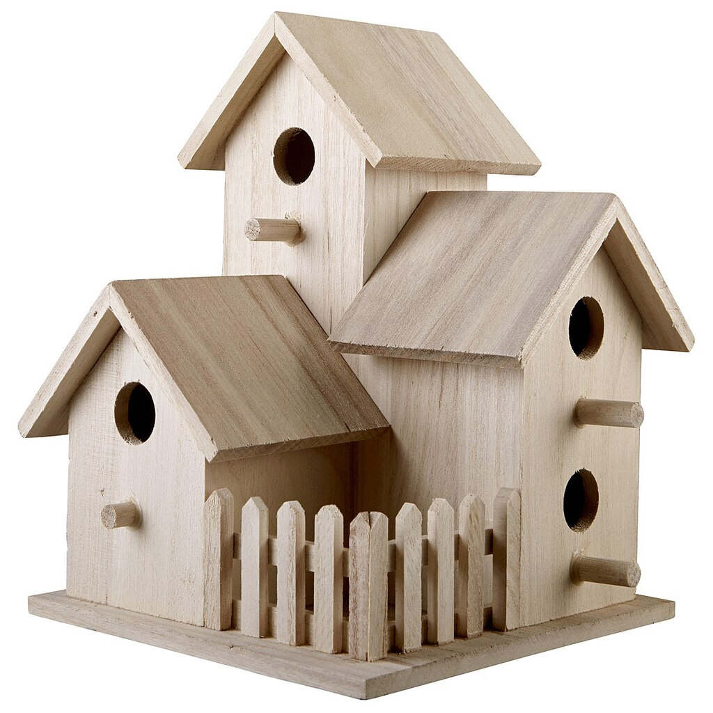 Triple birdhouse by artminds - Three wooden house plans ...