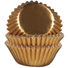 Celebrate It Mini Baking Cups, Gold Foil