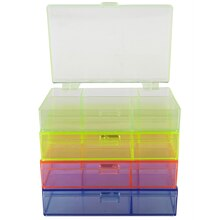 Bead Landing Neon Plastic Stackable Box Organizer Set