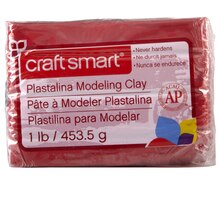 Craft Smart Plastalina Modeling Clay, Red