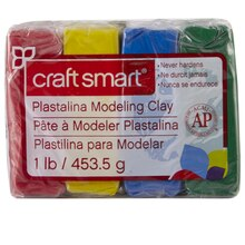 Craftsmart Plastalina Modeling Clay, 4 Primary Colors
