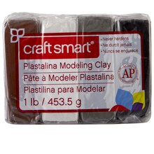Craftsmart Plastalina Modeling Clay, 4 Neutral Colors