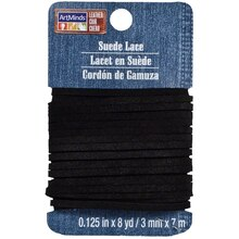 ArtMinds Suede Lace Card, Black