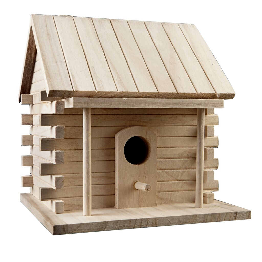 Artminds log cabin birdhouse for Birdhouse project