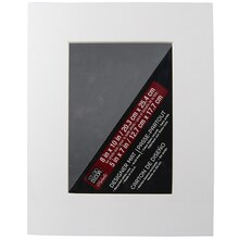 "Single Precut Mat, 8"" x 10"" with 5"" x 7"" Opening White"