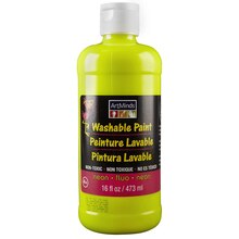 ArtMinds Washable Tempera Paint, Neon Yellow