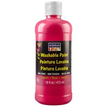 ArtMinds Washable Tempera Paint, Neon Pink