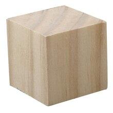 """Lara's Crafts Wood Square Block, 1 1/2"""""""