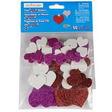 Creatology Foam Heart Glitter Stickers