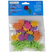 Creatology Foam Flower Glitter Stickers