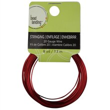 Bead Landing 20 Gauge Colored Copper Wire Red