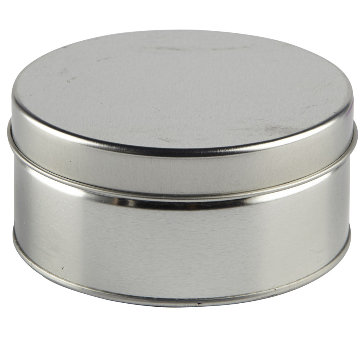 Find the Small Silver Round Tin by Celebrate It at Michaels