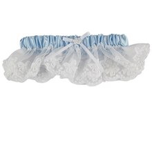 Celebrate It Occasions Leg Garter, Light Blue with White Lace