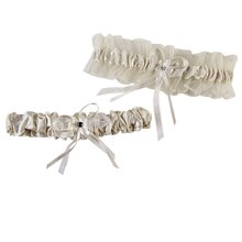 Celebrate It Occasions Leg Garter Set, Ivory