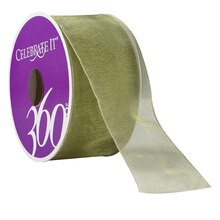 Celebrate It 360 Sheer Ribbon, 1 1/2in, Green