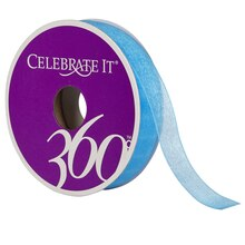 Celebrate It 360 Sheer Ribbon, 5/8in, Turquoise