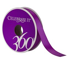Celebrate It 360 Satin Ribbon, 5/8in, Royal Purple