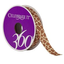 Celebrate It 360 Grosgrain Ribbon, Giraffe Print