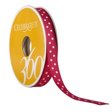 Celebrate It 360 Grosgrain Ribbon, Polka Dots, 3/8in, Hot Pink