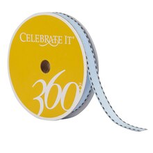 "Celebrate It 360 Grosgrain Side-Stitched Ribbon, 3/8"", Blue"