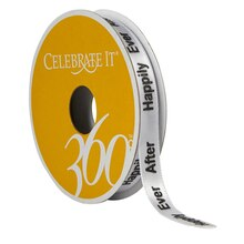 "3/8"" Satin ""Happily Ever After"" Ribbon by Celebrate It 360°"