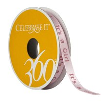 Celebrate It 360 Satin Ribbon, It's a Girl