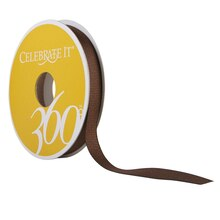 Celebrate It 360 Grosgrain Ribbon, 3/8in, Chocolate Brown